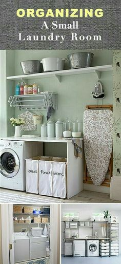 Organising a laundry room