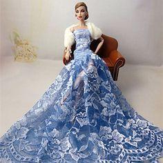 Muñeca Barbie - Azul cielo - Boda - Cuero de Poliuretano - Vestidos - Vestidos 4851162 2016 – €3,021.00