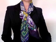 Criss-Cross Bow Knot – Tutorial on how to tie a square scarf into this knot using a buckle-style scarf ring.