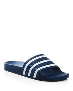 Adidas adilette Azul marino y blanco toboganes maquina loco