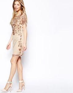 Image 4 ofASOS Baroque Embellished Shift Dress