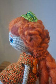 Jarzębinka crochet doll