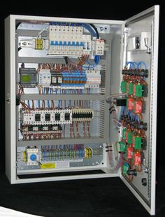 Inside a control panel
