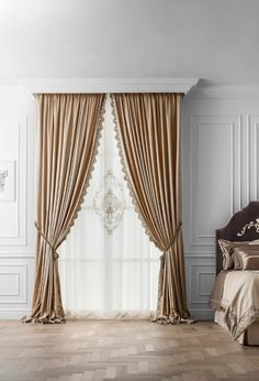 Fancy Curtains, Classic Curtains, Brown Curtains, Luxury Curtains, Living Room Decor Curtains, Home Curtains, Room Interior, Interior Design Living Room, Dining Room Blue