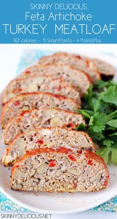 Skinny Delicious : Skinny Delicious Feta Artichoke Turkey Meatloaf