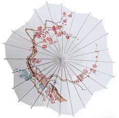 Cherry Blossom Parasol, Cherry Blossom Paper Parasol Umbrella   Japanese Style LLC