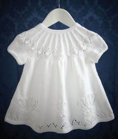 Christening Dress in Patons Baby Smiles Fairytale Dreamtime 4 Ply: http://www.mcadirect.com/shop/patons-baby-smiles-fairytale-dreamtime-ply-25g-white-p-8135.htm