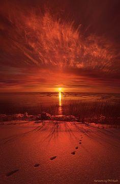 Orange Winter Sunset ~ Marvelous Nature