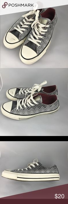Black & White Converse Shoes Black and white Converse shoes.  No box.  Worn once with a scuff.   Woman size 7 for Men's/Boys size 5. Converse Shoes Sneakers