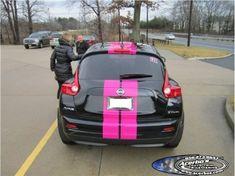 black nissan juke with pink stripes | ... - Gallery - Category: Vehicle Stripes - Image: Black Nissan Juke