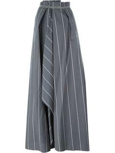декорированная полосатая длинная юбка