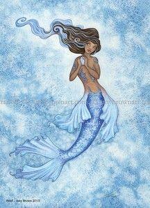 Fairy Art Artist Amy Brown: The Official Online Gallery. Fantasy Art, Faery Art, Dragons, and Magical Things Await. Mermaid Artwork, Mermaid Drawings, Mermaid Prints, Mermaid Tattoos, Unicorns And Mermaids, Mermaids And Mermen, Watercolor Mermaid, Watercolor Art, Amy Brown Fairies