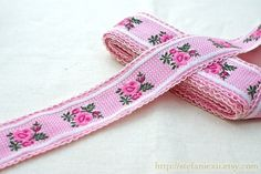 Sewing Tape/Ribbon - Rose Embroidery