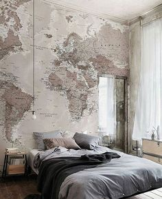 World Map Walls  Follow @richmensworld (me) for more! Tag a Friend who needs this  #worldmap #design #interior