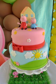Peppa Pig Birthday Party Ideas | Photo 26 of 41 | Catch My Party