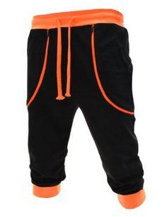 TheLees Mens Casual Slim Semi Baggy Fluorescent Zipper Training Pant Black L(US Easy Wear, Mens Sweatshirts, Dapper, Black Pants, Style Me, Men Casual, Menswear, Sweatpants, Slim