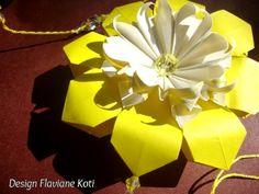 Origami modular Flora Flor. Design Flaviane Koti