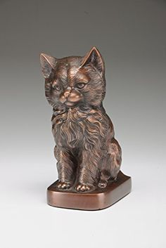 Precious Kitty Brass Pet Cremation Urn for Cat  Brand New  Copper Color  NEW -- Find out more about the great product at the image link.(This is an Amazon affiliate link and I receive a commission for the sales)