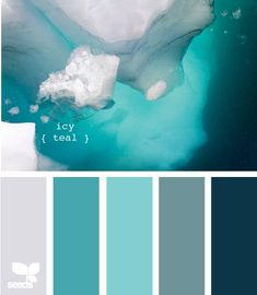 icy teal color scheme