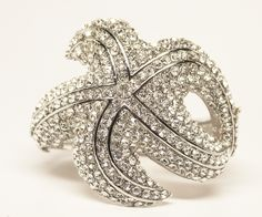 Hair Comes the Bride - Rhinestone Starfish Cuff Bridal Bracelet ~ Atlantic, $52.00 (http://www.haircomesthebride.com/rhinestone-starfish-cuff-bridal-bracelet-atlantic/)