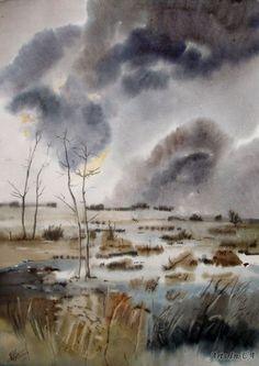 """""""Завтра снег..."""" (акварель, 53х37, 2011)"""