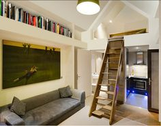Dwelle-tiny-house-inside - Home Inspections Prefab Sheds, Prefab Cabins, Prefab Homes, Tiny House Talk, Tiny House Blog, Tiny House Living, Mini Loft, Micro House, Tiny House Movement