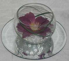 Fishbowl Wedding Table Centerpiece, Many Colours + Flowers....