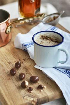 Warm Coconut Milk with Almonds, Maca + Honey