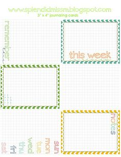 Free printable journaling cards for Project Life via splendidmissm.blogspot.com