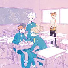 Pinterest B The Beginning, Art Assignments, Inazuma Eleven Go, Otaku, Boy Art, Colorful Backgrounds, Manga Anime, Chibi, Geek Stuff