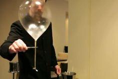 Alinea's edible helium-filled balloon dessert