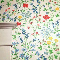 Cori Kindred vintage floral wallpaper