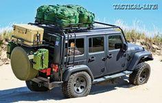Jeep Wrangler 4×4 JK Sahara: Built For Bug-Out!   Tactical Rides #jeep #bugoutcars