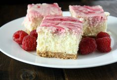 Just inspiration, not recipe.  Lemon Raspberry Cheesecake Squares - replace everything w the healthy version and see what happens