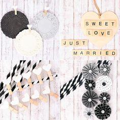 DIY Bodas : 5 ideas #diy para decorar con blondas en blanco y negro