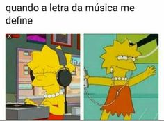 Lisa and Maggie Simpson. Best Memes, Funny Memes, Memes Humor, Funny Facts, Crush Memes, Memes Status, Imagine Dragons, The Simpsons, The Neighbourhood