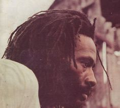 """BURNING SPEAR. Photo used on the back-cover of LP """"Hail H.I.M."""" released on Island Records in 1980."""