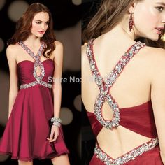 New Arrival A-Line Mini Sweetheart Short Prom Dresses Party Gown Crystal Beads Chiffon Short Sexy Homecoming Dresses