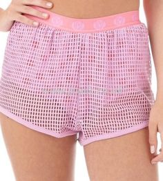 New Ladies HOT MESS Pink Polka Mesh Gym Shorts - Size UK 8-10 RRP £35 Running in Clothes, Shoes & Accessories, Women's Clothing, Shorts | eBay!