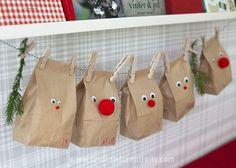 Julkalender med renar – Reindeer advent calendar