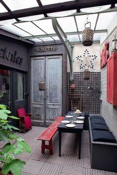 Un patio inspiré des voyages - Via Côté Maison