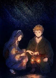 Lucina and Owain(Odin)- Fire Emblem: Awakening