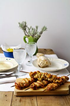 Hoje para jantar ...: Espetadas de peru orientais