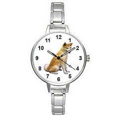 BMTC454 Akita Inu Dog Stainless Steel Italian Charm Band Mens Ladies Wrist Watch *** Want to know more on the watch, click on the image.