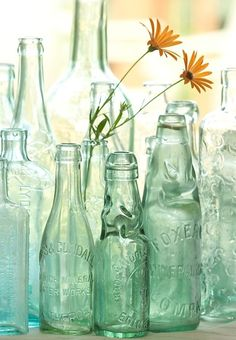 Antique bottles make for great vintage decor!
