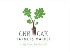 One Oak Farmers Market. Logo, social media card & flyer designed for a community farmers market.
