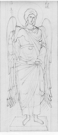 Pencil Drawing Patterns pencil drawing of Archangel Raphael Christian Drawings, Christian Artwork, Byzantine Icons, Byzantine Art, Pencil Drawings Of Girls, Art Drawings, Archangel Raphael, Albrecht Durer, Religious Icons