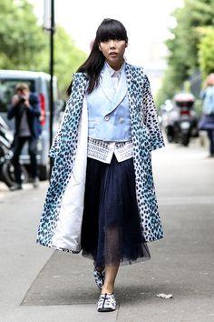 Streetstyle – Haute Couture Paris Herbst/Winter 2014/2015 – Susie Bubble