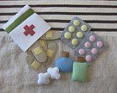 Felt first aid kit.  via Etsy.