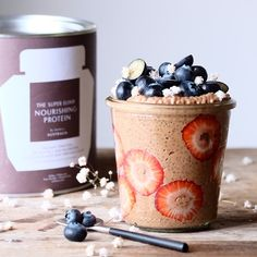 PUDDING PERFECTION | Day started right way with this amazing Nourishing Protein chia pudding  Not only rich in manganese (a nutrient that strengthens bones), chia seeds are also a healthy source of omega-3s.  Simply mix 2 tbs of chia seeds, 1 scoop of Nourishing Protein, 1/2 cup of water, 1/2 cup of coconut milk, soak overnight and top with berries  Rating 10/10 @naturally_nutritious